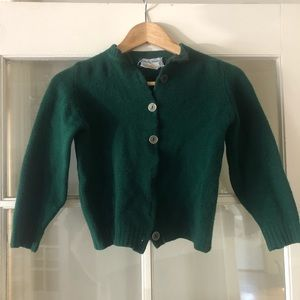 Vintage forest green wool sweater
